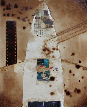 Coffee Collage on cotton | 37cm x 30cm | 1999