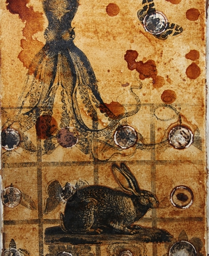 Coffee Collage on cotton | 30cm x 20cm | 1997
