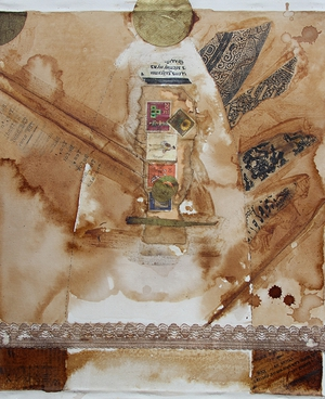 Coffee Collage Print Photocopy on cotton | 40cm x 35cm | 2001