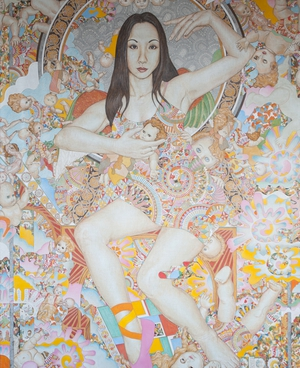 Hisako | egg tempera on canvas | 180 x 140cm | 2008