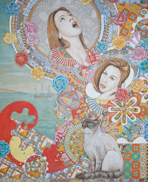 O.T. | egg tempera on canvas | 90cm x 75cm | 2009