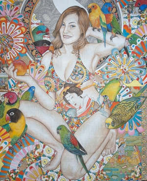 Jule 2 | egg tempera on canvas | 90cm x 75cm | 2008